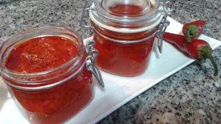هريسة بالفلفل الأحمر الحار مضمونة وناجحة  / Harissa Sauce