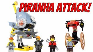 LEGO Ninjago Movie Piranha Attack Unboxing, Speed Build & Review