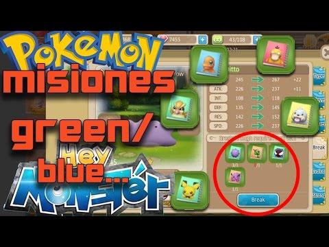 Completar mision Break 2 Pokemon in Green/ blue/+1quality - Hey Monster/Pokemon Reamke