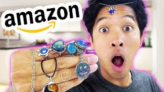 $5 TESTING AMAZON MOOD RINGS AND BRACELETS (COLOR CHANGING CHALLENGE)