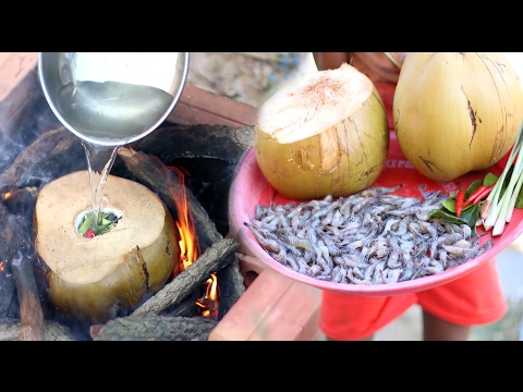 Xxx Mp4 Amazing Children Cook Shrimp In Coconut Fruit How To Cook Shrimp In Cambodia 3gp Sex