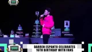 MYX News Minute: DARREN ESPANTO Celebrates 16th Birthday With Fans (05-29-2017)