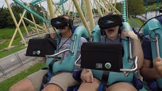 Our First Look At Kraken Unleashed VR Coaster | Full On Ride POV, Queue Tour & Ride Reviews!