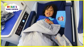Ryan's First Business Class Airplane Ride  To Japan + Japan Hotel Tour!!!