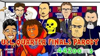 🏆Bayern Munich vs FC Porto 6-1 & Barcelona v PSG 2-0🏆Champions League Cartoon Quarter Final Parody
