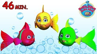 3 Little Fishes, The Wheels On the Bus and more English Nursery Rhymes Songs for Kids | Mum Mum TV