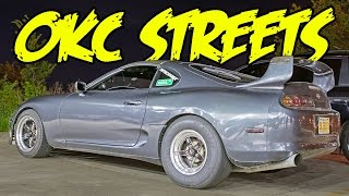 OKC Street Racing!! 1180hp Supra, 850hp TBSS, 850hp GT500, 700hp Subaru