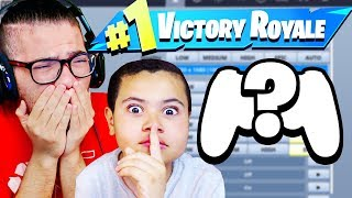 *EXPOSING* MY LITTLE BROTHERS NEW FORTNITE SETTINGS! HOW TO BECOME A PRO! BEST 10 YEAR OLD KID!!