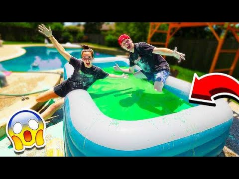 MAKING 10 000 POUNDS OF OOBLECK IN A POOL