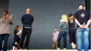Madonna & Emelie sings birthday song during Soundcheck, Gothenburg Sweden 2012
