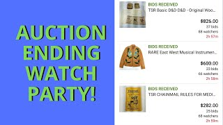 EBAY AUCTION ENDING WATCH PARTY! - 3 Historic Auctions End Tonight!!