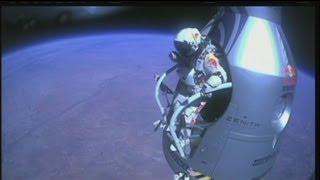 euronews science - Felix Baumgartner devient le Premier homme à franchir le mur du son en chute libre