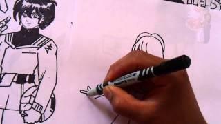 Como Dibujar Kawaii!! ROBOTECH LISA HEISS AND LYN MAY BODYS 1#BOCETO X db