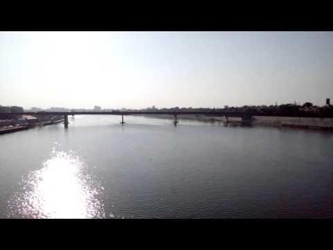 Crossing the Sabarmati river and heading towards Ahmedabad