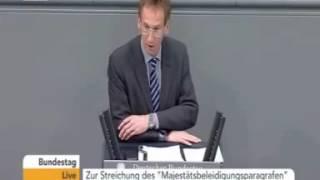 Detlef Seif trägt im Bundestag das Schmähgedicht von Böhmermann vor! 12.05.2016