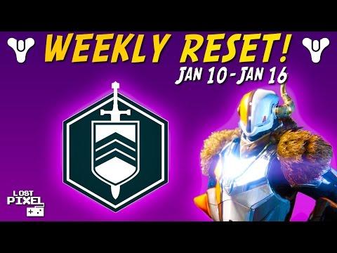 Destiny: WEEKLY RESET BOUNTIES HEROICS & NIGHTFALL - Jan 10-16 #DestinyTheGame
