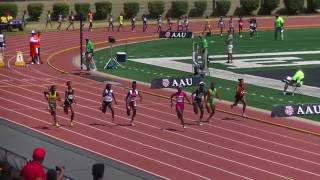 14yr Tamari Davis 11.48s 100m Finals AAU Junior Olympics 2017