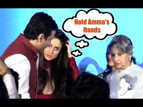 Kareena Kapoor SWEET GESTURE Of Asking Saif To Hold Sharmila Tagore Hands
