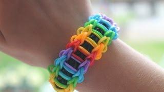 Rainbow loom Nederlands, Ladder Armband, rustige uitleg