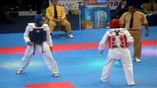 Taekwondo Victor Estrada vs Yossef Karami Knock out World Taekwondo championships 2003