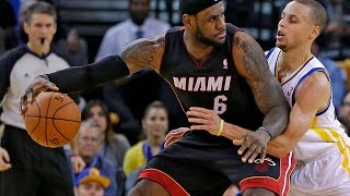 LeBron James vs Stephen Curry NASTY Duel 2014.02.12 Heat at GSW - Game Winner For James!