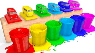 Learn Colors with BUS Toy and Cars Coloring Superheroes for babies - Colors for Kids