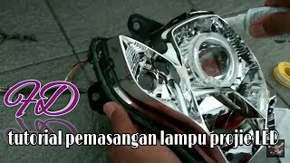 Proses pemasangan lampu proji/hid ( step by step , )