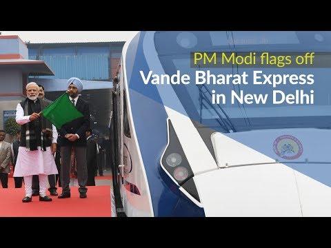 Xxx Mp4 PM Modi Flags Off Vande Bharat Express In New Delhi PMO 3gp Sex