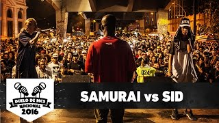 Samurai (RJ) vs Sid (DF) (Final) - Duelo de MCS Nacional 2016 - 20/11/16