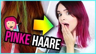 NEUE HAARE! - von BRAUN/GRÜN zurück zu PINK! ❤  HOW TO, Produkte + Haarunfall :D