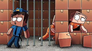 Minecraft | ESCAPING A BOX FORT PRISON - Riot to Breakout! (Box Fort Prison)