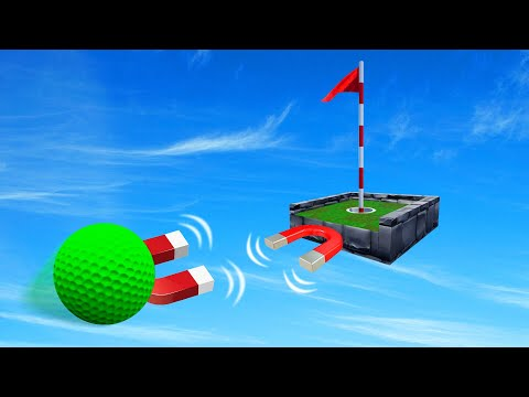 HOLE In ONE Using CHEAT Magnets Golf It