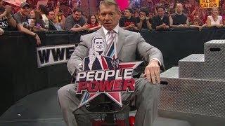 Mr. McMahon wrecks John Laurinaitis' scooter: Raw, June 11, 2012