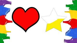 Coloring Pages - Heart and Star How to Draw and Coloring Hearts and Stars