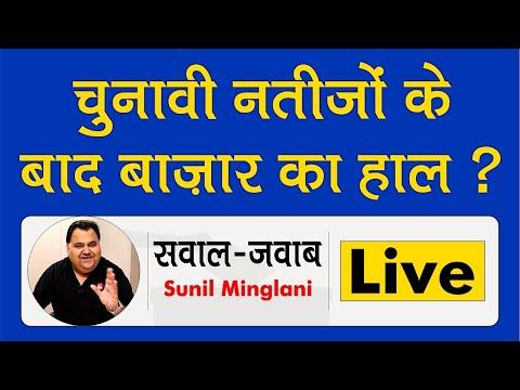 Election result के बाद  बाज़ार की संभावनाएं  | Sunil Minglani LIVE