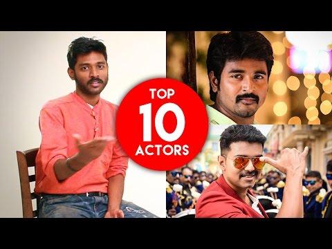 Top 10 Tamil heroes in 2016