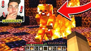 WE CORRUPTED FIRE STEVE IN MINECRAFT! *DO NOT TRY*