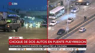 Chocaron dos autos en el Puente Pueyrredón sentido a Avellaneda