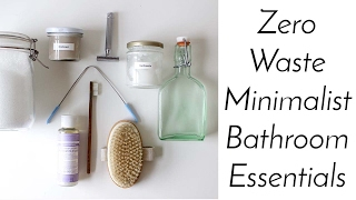 ZERO WASTE MINIMALIST BATHROOM ESSENTIALS | Home Made + Shop Bought