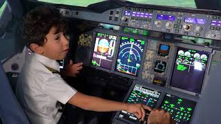 6-Year-Old Genius Kid Becomes Etihad Airways Pilot for a Day