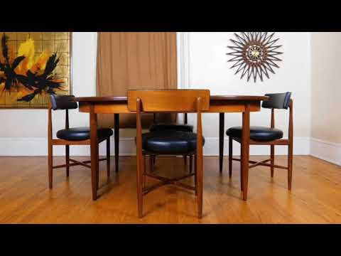 Xxx Mp4 PureVintageNYC Etsy G Plan Mid Century Modern Table Amp 6 Chairs 3gp Sex