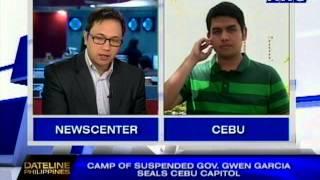 Camp of suspended Gov. Gwen Garcia seals Cebu capitol