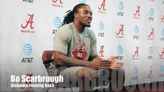 Alabama RB Bo Scarbrough talks Mississippi State game