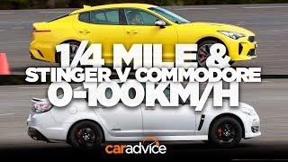 Drag race: Kia Stinger v Chevrolet SS/Holden Commodore SS-V Redline: 1/4 mile and 0-100