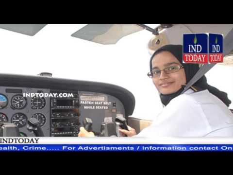 Captain Syeda Salwa Fatima The First Women Pilot from Hyderabad meets Akbaruddin Owaisi