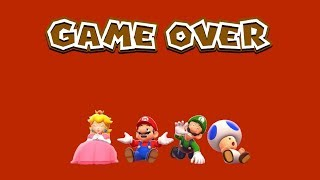 Super Mario 3D World - Game Over (All Characters)