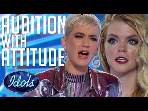 AUDITION With ATTITUDE Can Koby Sing Katy Perry Tells Her How It Is American Idol 2018