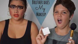 My Little Brother Does My Makeup Challenge | Lailani Sauaga