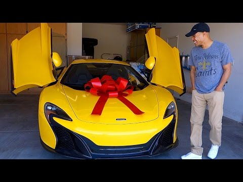 WIFE SURPRISES HUSBAND WITH A BRAND NEW MCLAREN!!