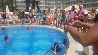 Pool dance Green Nature Resort en Spa august 2016